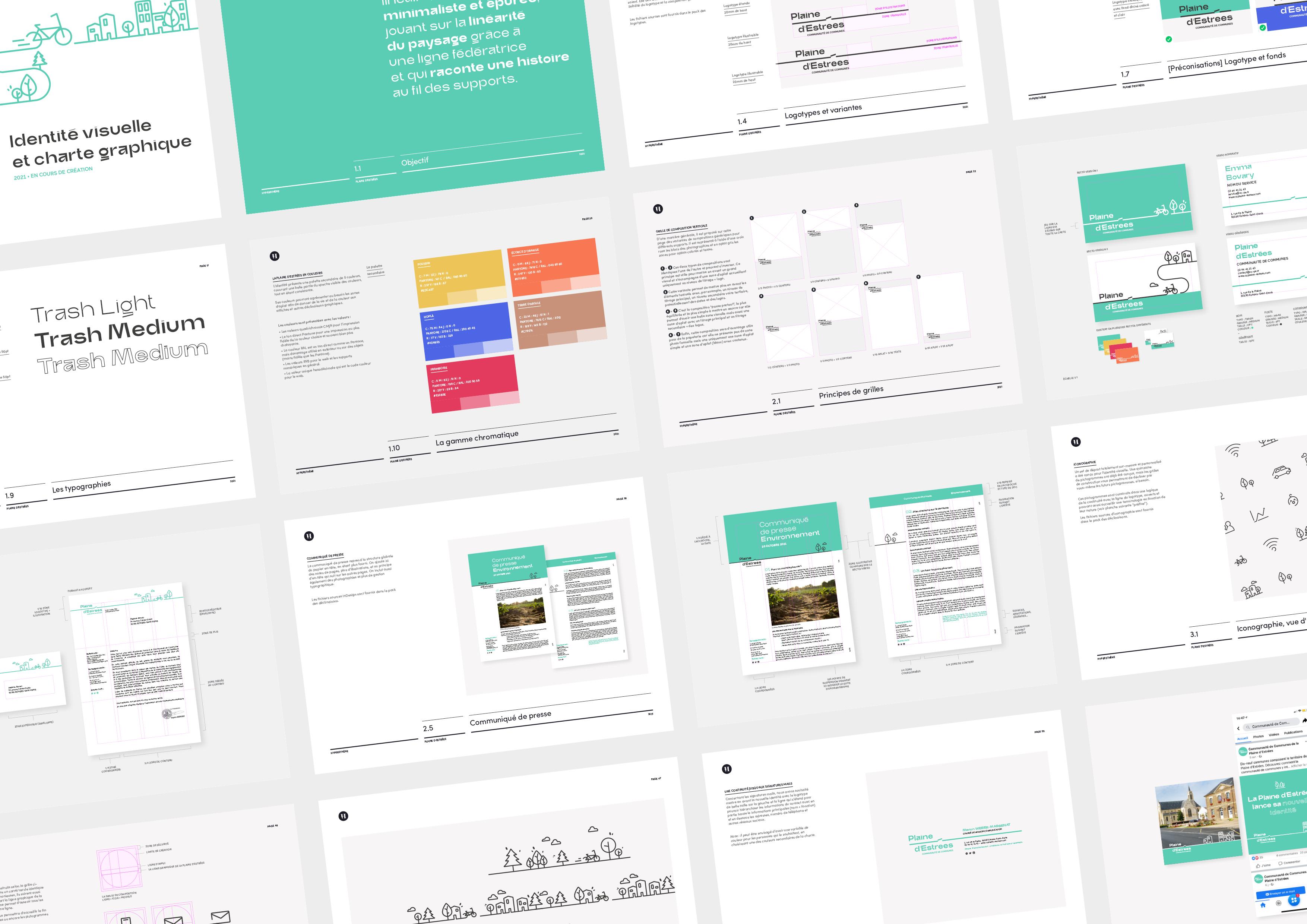 Charte Graphique Plaine d'Estrees identité visuelle 12