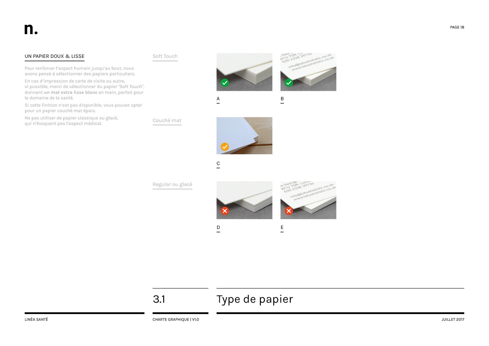Linea Sante Charte Graphique18