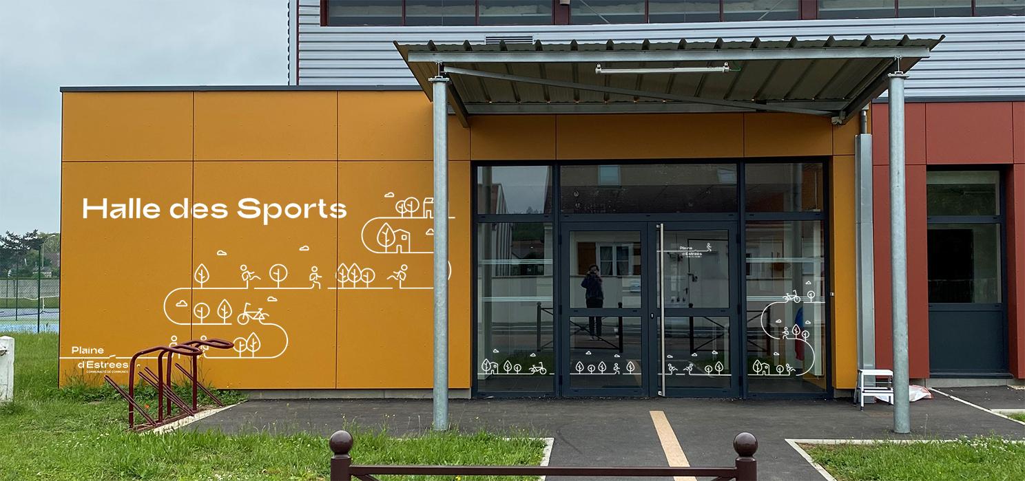 Signalétique Hall des Sports Plaine d'Estrees identité visuelle 16
