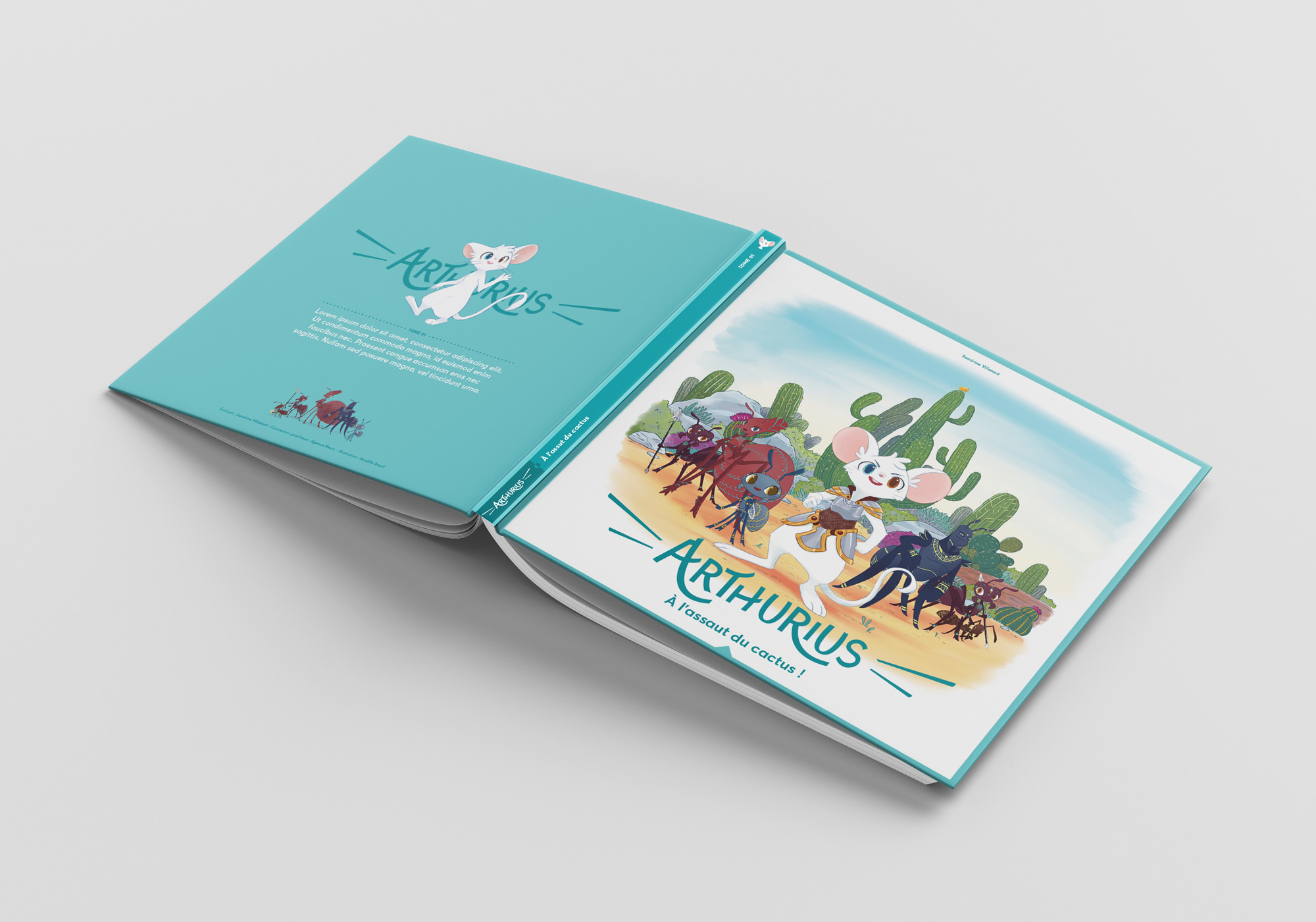 Square Book Mockup 7