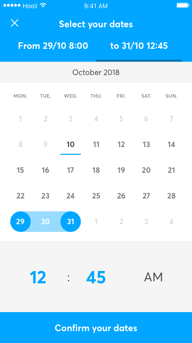 Vulog Ux Ui Booking Form Date Confirm